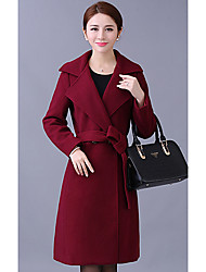 Sign # 8363 new winter woolen coat woman in the world, middle-aged mother dress big yards long woolen coat female