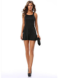 Ms. Fashion Straight Sskirt  Waist Round Neck Simple Style Sexy Short Skirts