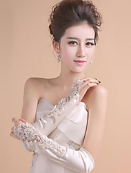Elbow Length Fingerless Glove Polyester Bridal Gloves