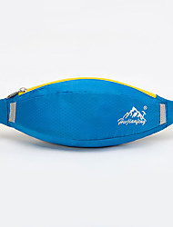 Unisex Waist Bag Nylon All Seasons Casual Sports Outdoor Zipper Green Blue Dark Red Dark Gray Light Green