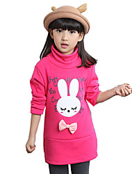 Girl's Casual/Daily Animal Print Hoodie & SweatshirtCotton / Rayon Winter / Spring / Fall Pink / Red / Yellow