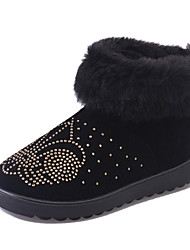 British Style Women's Boots Warm Snow Boots Cotton Slip on Boots