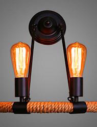 The Nordic Modern Minimalist Retro Fashion Clothing Coffee Balcony Stairs Half Circular Hemp Rope Wall Lamp