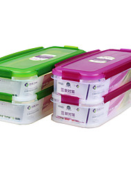 eco impermeável de dupla camada empilhável congelador recipiente de alimento seguro (* 2p 1.5l)