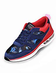 Femme-Sport-Noir / Bleu / Orange-Talon Plat-Confort-Chaussures d'Athlétisme-Polyuréthane