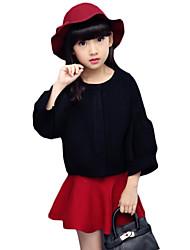 Girl's Casual/Daily Solid Sweater & Cardigan,Wool Spring / Fall Black / Red / White
