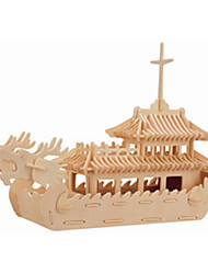 Dragon Boat 3 d Wooden Simulation Stereo DIY Assembly Model Educational Toys