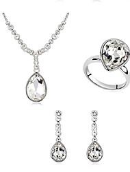 Schmuck Halsketten / Ohrringe / Ringe Schmuckset Kristall Modisch Alltag 1 Set Damen Dunkelblau / Marinenblau / Weiß Hochzeitsgeschenke