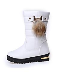 Для женщин Ботинки Удобная обувь Полиуретан Повседневные Удобная обувь Белый Черный Темно-коричневый Менее 2,5 см