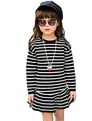 Girl's Casual/Daily Striped Sweater & CardiganWool / Cotton Fall Black / Pink