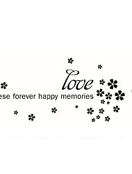 Love Words & Quotes Wall Stickers  Flowers Wall Stickers  Vinyl  Decals