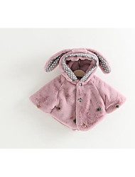 Girl's Casual/Daily Solid Suit & BlazerCotton Winter Pink / White / Gray