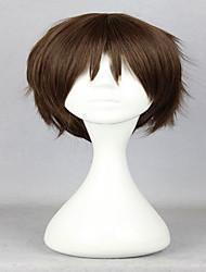 anime ataque clássico sobre titan eren Jaeger 30 centímetros curta marrom peruca cosplay partido sintética peruca