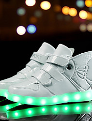 LED Light Up Shoes,Boys Grils Sneakers Spring / Summer / Fall / Winter Comfort Leather Outdoor / Athletic / Casual Low Heel/ Blue / Pink / White /