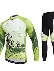 Sport Fahrradtrikots mit Fahrradhosen Unisex Langärmelige FahhradAtmungsaktiv / Rasche Trocknung / Windundurchlässig / Anatomisches