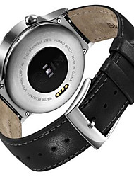 Men's Smart Watch Digital Genuine Leather Band Black