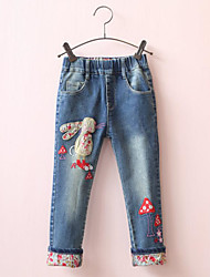 Girls' Casual/Daily Print Pants Jeans-Cotton Spring Fall