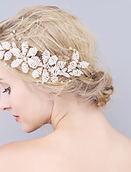 Handmade Pearl Flower Headpiece-Wedding / Special Occasion Hair Combs 1 Piece Ivory