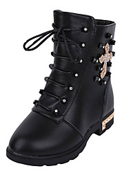 Girl's Boots Spring / Fall / Winter Riding Boots / Comfort Leather Outdoor/ Casual Zipper Black / Brown / Red / White