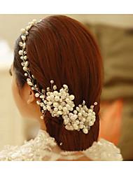 Voiles de Mariée Une couche Coiffure avec voile Bord perlé Paillettes scintillantes