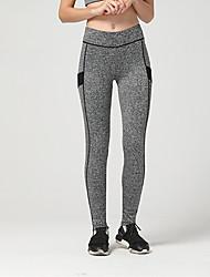 Yoga Pants Fundos Respirável / Macio / Confortável Natural Stretchy Wear Sports Amarelo / Cinzento / Azul / Laranja / Fúcsia Mulheres