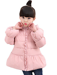 Girl's Going out Solid Down & Cotton PaddedCotton / Polyester Winter Pink / Purple