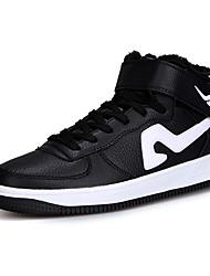 Men's Fashion Sneakers Cotton Shoes Medium Cut Comfort Microfibre Outdoor/Casual Flat Walking Board Shoes