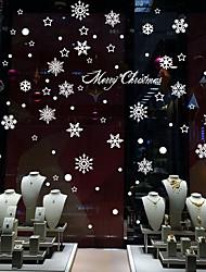 Noël / Romance / Vacances Stickers muraux Stickers avion / Miroirs Muraux Autocollants Stickers muraux décoratifs,PVC Matériel Amovible