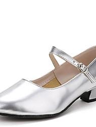 Women's Dance Shoes Heels Low Heel Gold/Silver/Black/Red