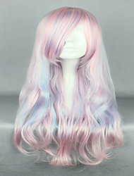 Pink Cosplay Wig  Sexy Hair  80cm  Long Deep Wave Synthetic Quality Lolita Wig Costume Party Wig