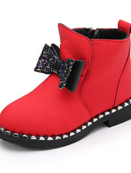 Girls' Boots Leatherette Casual Black Gray Ruby Flat