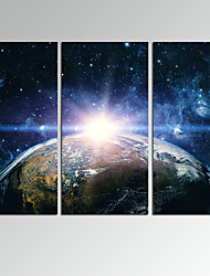 VISUAL STAR3 Panel Beautiful Planet Photos Print on Canvas Wall Decoration Canvas Art Ready to Hang