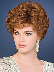 Top Quality Heat Resistant Short Curly Brown Color Wigs