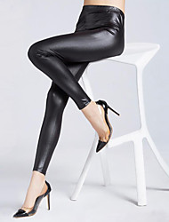 Women's Solid Black Skinny PantsSexy Fall
