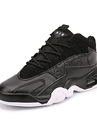 Men's Athletic Shoes Spring / Summer / Fall / Winter Athletic Split Joint / Lace-up Black / Blue / White Basketball