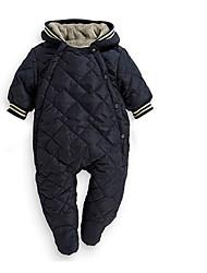 малыш Блуза-На каждый день,Однотонный,Хлопок,Зима / Осень-Синий