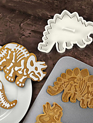 3Pcs Lot Dino Fossil Cookie Cutters Cake Mould Cake Tools