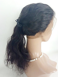360 frontal Ondulation naturelle Cheveux humains Fermeture Brun roux Dentelle Suisse 90g gramme Moyenne Cap Taille