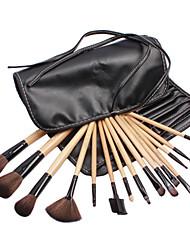 15 Blush Brush / Eyeshadow Brush / Brow Brush / Eyeliner Brush Professional / Travel / Full Coverage Wood