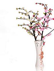 1 1 Une succursale Polyester / Plastique Cerisier du Japon Arbre de Noël Fleurs artificielles 43.3inch/110cm