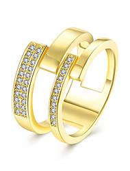 Bagues pour Première Phalange Anneaux Zircon cubique Zircon Cuivre Imitation de diamant Mode Rouge Rose Doré BijouxMariage Soirée