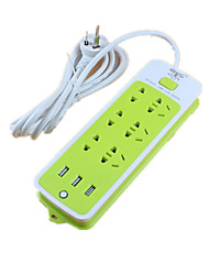 Usb Porous Switch Row Plug (Note Resistant To Cattle Green 3USB Length Of 9.5 Meters)