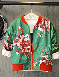 Boy's Casual/Daily Floral Jacket & CoatNylon Fall Green