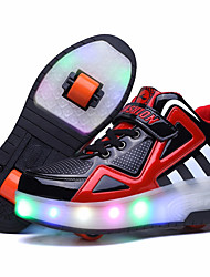 Kid Boy Girl Roller Shoes / Ultra-light Two Wheel Skating LED Light Shoes / Athletic / Casual LED Shoes Blue Red