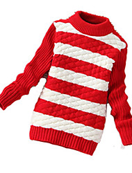 Girl's Casual/Daily Striped Sweater & CardiganWool Winter Black / Blue / Pink / Red / Yellow / Gray