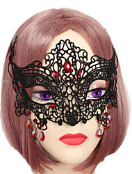 1pc halloween sexy mit verbundenen Augen schwarzer Spitze Maske Verzierungen
