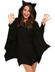 Disfraces de Cosplay Vampiros Festival/Celebración Traje de Halloween Negro Un Color Leotardo/Pijama Mono Halloween MujerPoliéster /