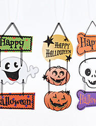 Halloween Props Holiday Paper Cosplay Accessories Christmas Carnival New Year Ghost Pumpkin Cardboard Pendant Tag