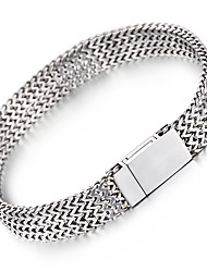 Kalen® Men's New Mesh Bracelet 316L Stainless Steel Jewelry High Polished Slight Hand Chain  Cool Gift