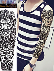1Pcs Large Waterproof Fake Paste Leg Full Arm Tattoo Sticker Sleeve On The Body Art For Men Women Paper Paste
